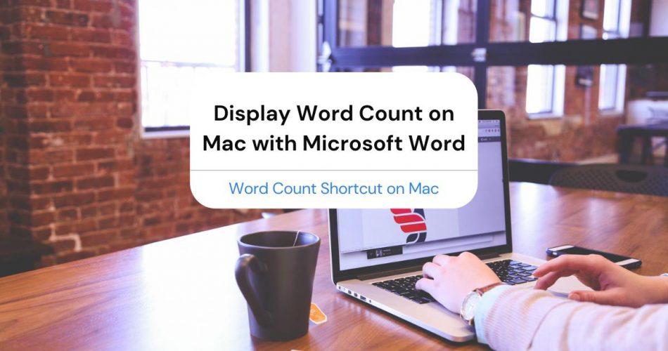 word count shortcut mac