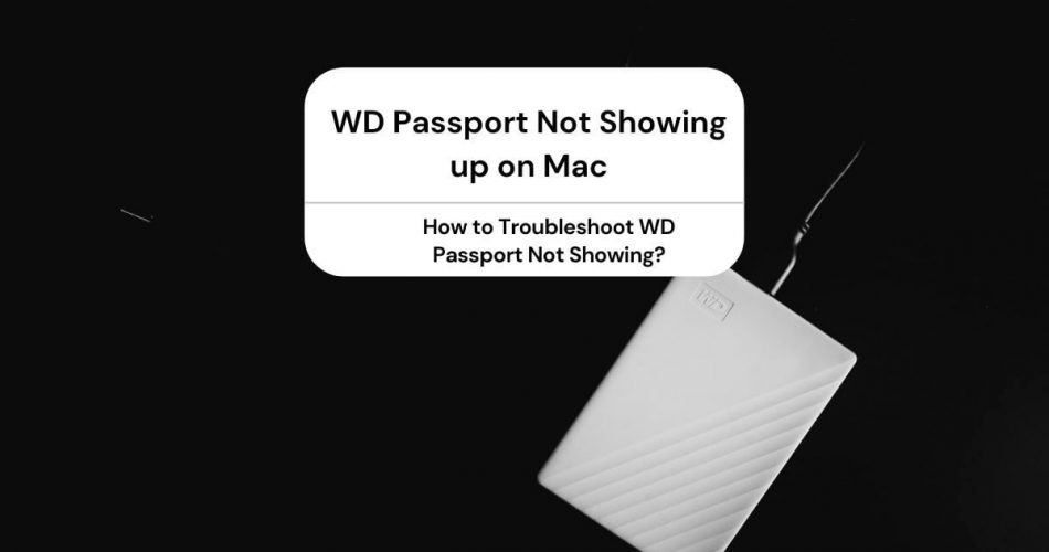 WD Passport Not Showing up on Mac