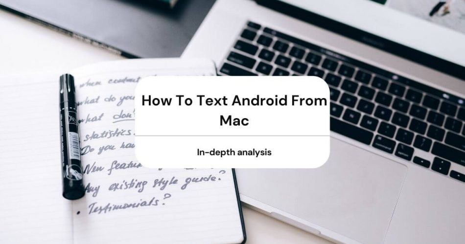how to text android from mac