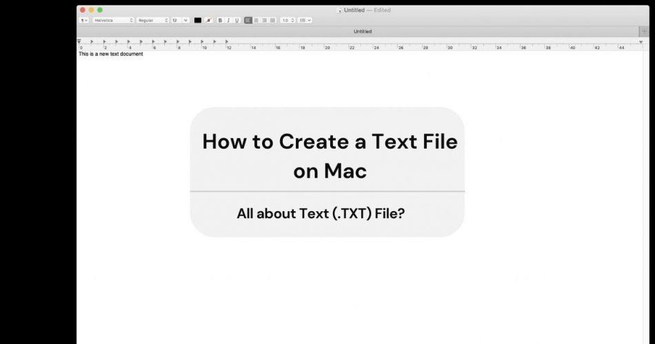 create text file mac